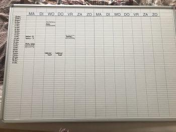 nieuw whiteboard structuur