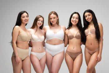 vrouwen met verschillend gewicht