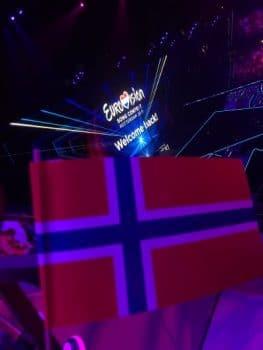Vlaggetje Noorwegen bij het Eurovisie Songfestival voor TIX